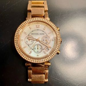 Parker rose gold MK watch - pearl face